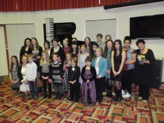 Some of Cara's pupils at the Napier Municipal Theatre